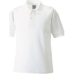 vaatteet Pojat Lyhythihainen poolopaita Jerzees Schoolgear 65/35 White
