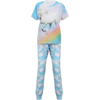 vaatteet Naiset pyjamat / yöpaidat Christmas Shop Unicorn Light Blue Unicorn