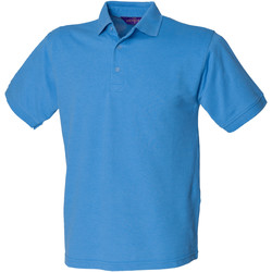 vaatteet Miehet Lyhythihainen poolopaita Henbury HB400 Mid Blue