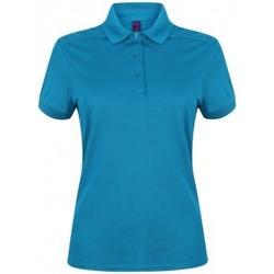 vaatteet Naiset Lyhythihainen poolopaita Henbury HB461 Sapphire