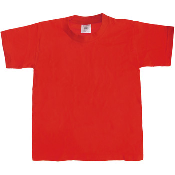 vaatteet Lapset Lyhythihainen t-paita B And C Exact 190 Red