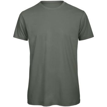 vaatteet Miehet Lyhythihainen t-paita B And C TM042 Millennial Khaki