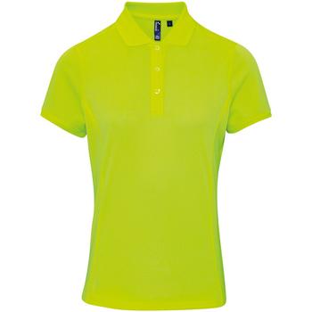 vaatteet Naiset Lyhythihainen poolopaita Premier PR616 Neon Yellow