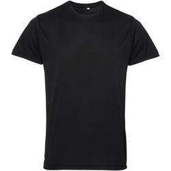 vaatteet Miehet Lyhythihainen t-paita Tridri TR010 Black