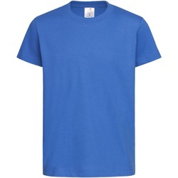 vaatteet Lapset Lyhythihainen t-paita Stedman  Bright Royal