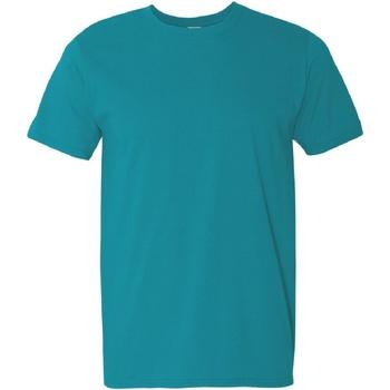 vaatteet Miehet Lyhythihainen t-paita Gildan Soft-Style Tropical Blue