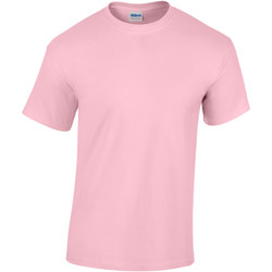 vaatteet Miehet Lyhythihainen t-paita Gildan Heavy Light Pink