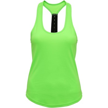 vaatteet Naiset Hihattomat paidat / Hihattomat t-paidat Tridri TR027 Lightning Green