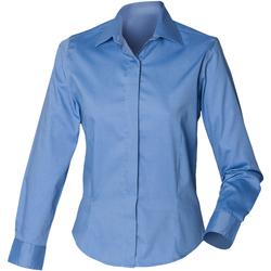 vaatteet Naiset Paitapusero / Kauluspaita Henbury HB551 Corporate Blue