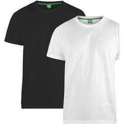 vaatteet Miehet Lyhythihainen t-paita Duke Fenton Black/White