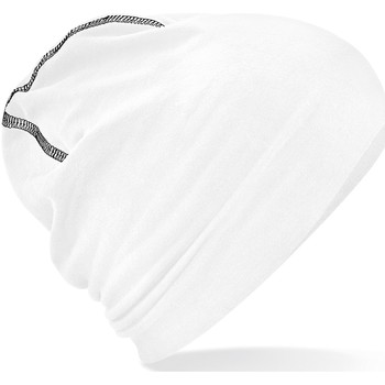 Asusteet / tarvikkeet Miehet Pipot Beechfield B366 White/Black