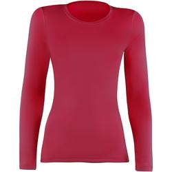 vaatteet Naiset T-paidat pitkillä hihoilla Rhino RH003 Red