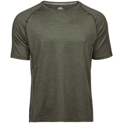 vaatteet Miehet Lyhythihainen t-paita Tee Jays TJ7020 Olive Melange