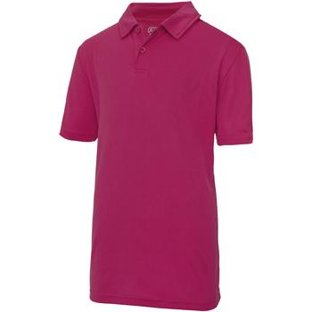vaatteet Lapset Lyhythihainen poolopaita Just Cool  Hot Pink