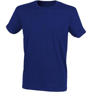 vaatteet Miehet Lyhythihainen t-paita Skinni Fit SF121 Heather Navy