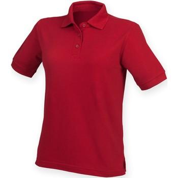 vaatteet Naiset Lyhythihainen poolopaita Henbury HB401 Vintage Red
