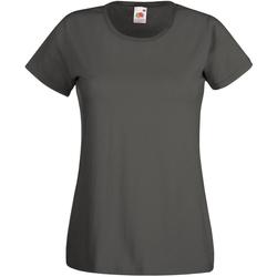 vaatteet Naiset Lyhythihainen t-paita Universal Textiles 61372 Graphite
