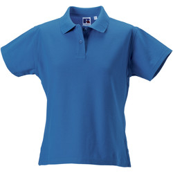 vaatteet Naiset Lyhythihainen poolopaita Russell J577F Azure