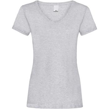 vaatteet Naiset Lyhythihainen t-paita Universal Textiles Value Grey Marl