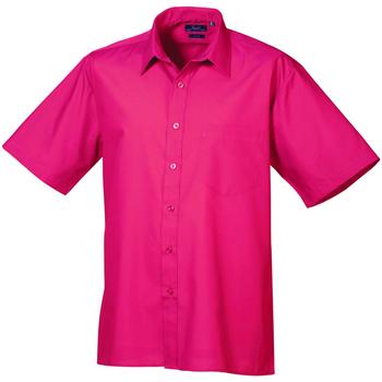 vaatteet Miehet Lyhythihainen paitapusero Premier PR202 Hot Pink