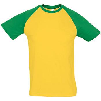 vaatteet Miehet Lyhythihainen t-paita Sols 11190 Gold/Kelly Green