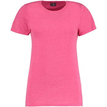 vaatteet Naiset Lyhythihainen t-paita Kustom Kit Superwash Pink Marl