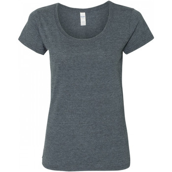 vaatteet Naiset Lyhythihainen t-paita Gildan 64550L Dark Heather