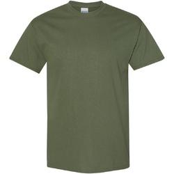 vaatteet Miehet Lyhythihainen t-paita Gildan Heavy Military Green