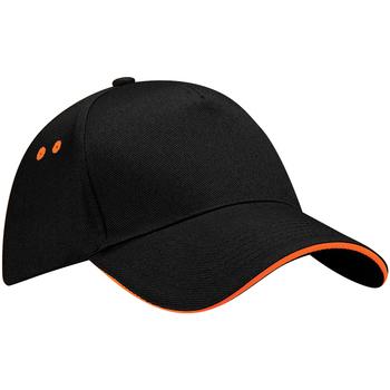 Asusteet / tarvikkeet Lippalakit Beechfield B15C Black/Orange