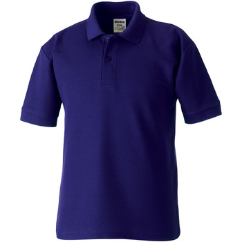 vaatteet Pojat Lyhythihainen poolopaita Jerzees Schoolgear 539B Purple