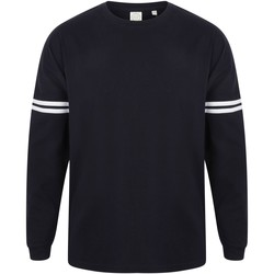 vaatteet Miehet T-paidat pitkillä hihoilla Skinni Fit Slogan Oxford Navy / White Stripes