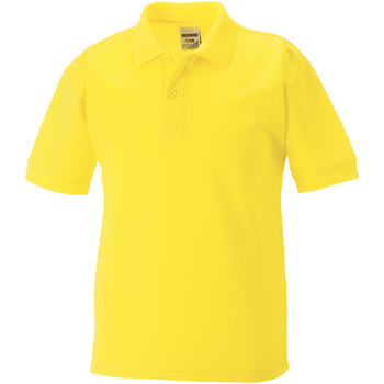 vaatteet Pojat Lyhythihainen poolopaita Jerzees Schoolgear 65/35 Yellow
