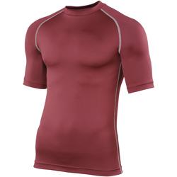 vaatteet Miehet Lyhythihainen t-paita Rhino RH002 Maroon