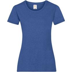 vaatteet Naiset Lyhythihainen t-paita Fruit Of The Loom 61372 Retro Heather Royal