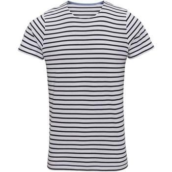 vaatteet Miehet Lyhythihainen t-paita Asquith & Fox Mariniere White/Navy