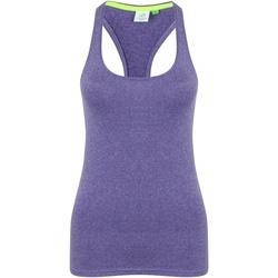 vaatteet Naiset Hihattomat paidat / Hihattomat t-paidat Tombo TL506 Purple Marl