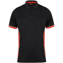 vaatteet Miehet Lyhythihainen poolopaita Finden & Hales TopCool Black/Red/White