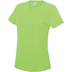 vaatteet Naiset Lyhythihainen t-paita Awdis JC005 Electric Green