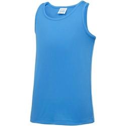 vaatteet Lapset Hihattomat paidat / Hihattomat t-paidat Awdis JC07J Sapphire Blue