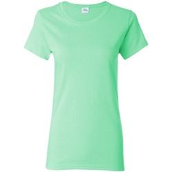 vaatteet Naiset Lyhythihainen t-paita Gildan Missy Fit Mint Green