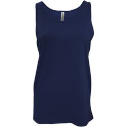 vaatteet Naiset Hihattomat paidat / Hihattomat t-paidat Bella + Canvas CA3480 Navy Blue