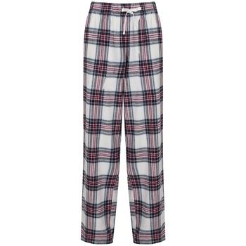 vaatteet Naiset Väljät housut / Haaremihousut Skinni Fit Tartan White/Pink Check