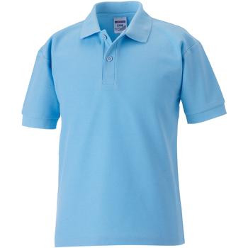 vaatteet Pojat Lyhythihainen poolopaita Jerzees Schoolgear 65/35 Sky Blue