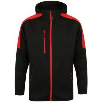 vaatteet Miehet Tuulitakit Finden & Hales LV622 Black/Red