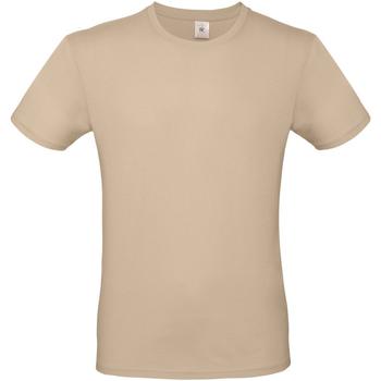 vaatteet Miehet Lyhythihainen t-paita B And C TU01T Sand