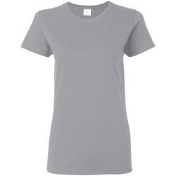 vaatteet Naiset Lyhythihainen t-paita Gildan Missy Fit Sport Grey