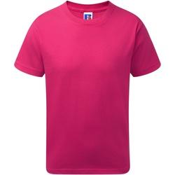 vaatteet Pojat Lyhythihainen t-paita Jerzees Schoolgear J155B Fuchsia