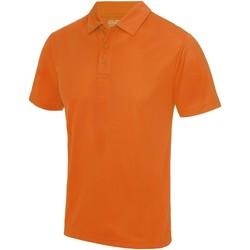 vaatteet Miehet Lyhythihainen poolopaita Awdis JC040 Orange Crush
