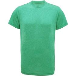 vaatteet Miehet Lyhythihainen t-paita Tridri TR010 Green Melange