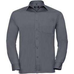 vaatteet Miehet Pitkähihainen paitapusero Russell 934M Convoy Grey